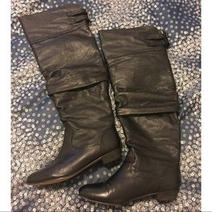 Steve Madden Caliko leather over the knee boots